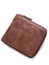 cheap -Men's Bags Wallet Zipper for Casual Yellow / Brown