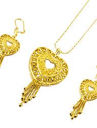 Недорогие -Комплект ювелирных изделий - Сердце Милая, Мода Включают Золотой Назначение Свадьба / Для вечеринок / Серьги
