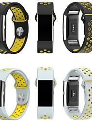 Недорогие -Ремешок для часов для Fitbit Charge 2 Fitbit Спортивный ремешок Миланский ремешок силиконовый Повязка на запястье