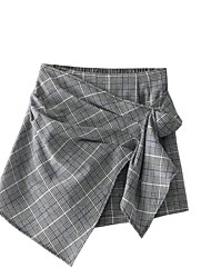 abordables -Mujer Activo Alta cintura Pitillo Shorts Pantalones - Un Color
