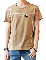 povoljno -Majica s rukavima Muškarci - Osnovni Ulični šik Dnevno Jednobojni Print