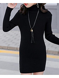 preiswerte -Mädchen Bluse Solide Baumwolle Herbst Schwarz Beige