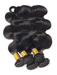 cheap -Brazilian Hair Wavy One Pack Solution Human Hair Weaves Extention / Hot Sale Natural Black All