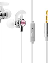 Недорогие -ojade j1 в наушниках уха 3,5 мм стереофонические басовые наушники с микрофоном аудио и видео для смартфона