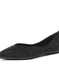 povoljno -Žene Cipele PU Proljeće Jesen Udobne cipele Ravne cipele Ravna potpetica za Kauzalni Zlato Crn