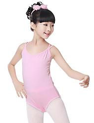 cheap -Ballet Leotards Girls' Training / Performance Cotton Criss Cross Sleeveless Natural Leotard / Onesie