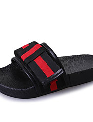 cheap -Women's Shoes PU Spring Comfort Slippers & Flip-Flops Flat Heel Bowknot for Black Beige