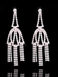 abordables -Mujer Borla / Largo Pendientes cortos / Pendients de aro - Plateado Borla, Moda Plata Para Boda / Fiesta / Noche