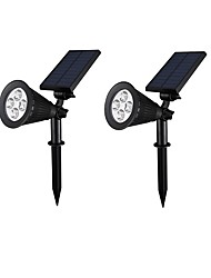 cheap -2pcs 2W Lawn Lights Solar Light Control Outdoor Lighting Green Blue Red DC3.7V