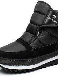 Недорогие -Муж. Зимние сапоги Полотно Осень / Зима Ботинки Лыжная обувь Ботинки Черный