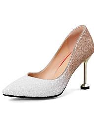 preiswerte -Damen Schuhe Paillette Frühling Herbst Pumps High Heels Stöckelabsatz Spitze Zehe Paillette für Hochzeit Party & Festivität Weiß Rot