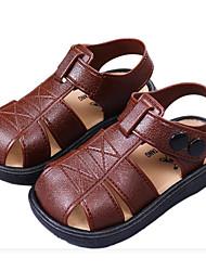 Недорогие -Мальчики Обувь Кожа ПВХ  Лето Удобная обувь Сандалии для Черный / Коричневый