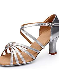 Недорогие -Жен. Обувь для латины Дерматин Сандалии на открытом воздухе / Профессиональный стиль Высокий каблук Персонализируемая Танцевальная обувь