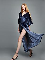 cheap -BENEVOGA Women's Sophisticated Street chic Lantern Sleeve Bodycon Sheath Swing Dress - Solid Colored, Cut Out Split
