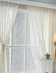 cheap -Sheer Curtains Shades Bedroom Contemporary Cotton / Polyester Embroidery