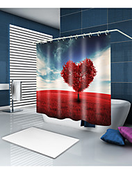 cheap -Shower Curtains & Hooks Modern Country Polyester Contemporary Novelty Machine Made Waterproof Bathroom