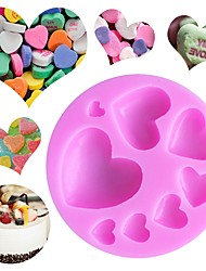 cheap -Bakeware tools Silicone DIY Valentine's Day Birthday Creative Kitchen Gadget For Pudding For Candy Cake For Chocolate For Cookie Cake