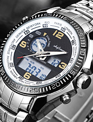 cheap -SHIFENMEI Men's Digital Sport Watch Japanese Calendar / date / day Large Dial Stainless Steel Band Luxury Fashion Silver