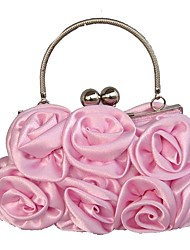 cheap -Women's Bags Silk Evening Bag Embossed Red / Blushing Pink / Coffee