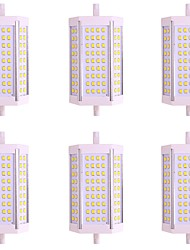 cheap -6pcs 10W 1000lm R7S Tube Lights 72 LED Beads SMD 2835 Warm White Cold White 85-265V