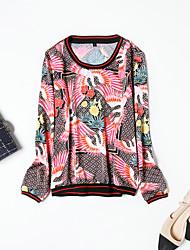 economico -T-shirt Per donna Attivo Moda città Con stampe,Animali