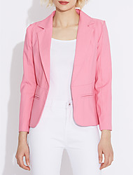 cheap -Women's Work Blazer - Solid Colored Simple