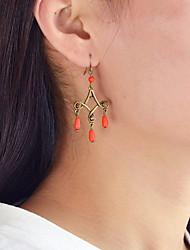 cheap -Women's Drop Drop Earrings - Casual / Fashion Yellow / Fuchsia / Blue Earrings For Daily / Date