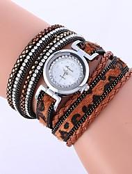 Недорогие -Жен. Кварцевый Модные часы Китайский Имитация Алмазный PU Группа На каждый день Мода Черный Белый Синий Красный Коричневый Бежевый Роуз