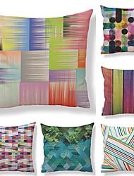 cheap -6 pcs Textile Cotton / Linen Pillow case Pillow Cover, Galaxy Color Block Contemporary Simple High Quality