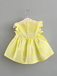 economico -Bambino Da ragazza A strisce Senza maniche Cotone Vestito / Bambino (1-4 anni)