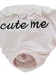 abordables -Chiens Animaux de Compagnie Santé Pantalons Vêtements pour Chien Couleur Pleine Slogan Broderie Gris Bleu Rose Tissu Costume Pour les
