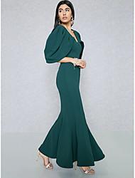 preiswerte -Damen Anspruchsvoll Street Schick Bodycon Hülle Trompete / Meerjungfrau Kleid Solide Maxi