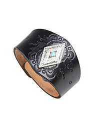 cheap -Men's Turquoise Leather Cool Leather Bracelet - Rock Geometric Black Brown Bracelet For Club Street