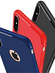 abordables -Funda Para Apple iPhone X iPhone 8 iPhone 6 iPhone 7 Plus iPhone 7 Congelada Funda Trasera Color sólido Suave Silicona para iPhone X