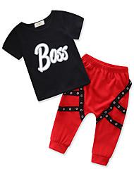 cheap -Kids Toddler Boys' Print Short Sleeves Clothing Set