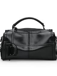 cheap -Women's Bags leatherette / PU Tote Zipper Black / Blushing Pink / Brown