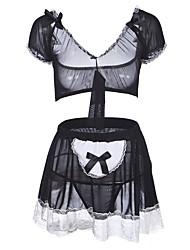 economico -Per donna Completi / Uniformi e abiti tradizionali cinesi / Babydoll e slip Indumenti da notte - Pizzo, Monocolore