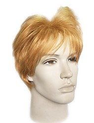 cheap -Wig Accessories Straight Layered Haircut / Asymmetrical Haircut Synthetic Hair Natural Hairline Light Brown Wig Men's Short Capless Light Brown