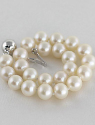 cheap -Women's Pearl / Freshwater Pearl Strand Bracelet - Silver Plated, Freshwater Pearl Simple, Fashion, Elegant Bracelet White For Party / Gift