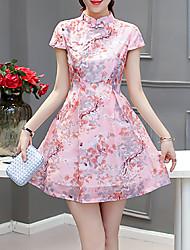 cheap -Women's Basic / Sophisticated Sheath Dress - Geometric Print
