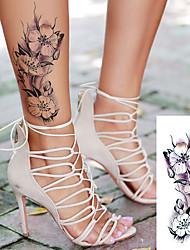 Недорогие -Стикер / Стикер татуировки рука Временные татуировки 5 pcs Тату с цветами / Романтическая серия Искусство тела