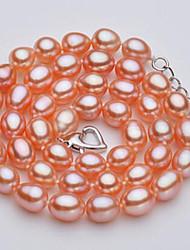 abordables -Mujer Perla Gargantillas - Perla, Perla rosa Bola Clásico, Naturaleza Rosa 46 cm Gargantillas Para Fiesta, Diario