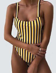 cheap -Women's One-piece - Striped High Waist