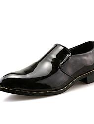 Недорогие -Муж. обувь Полиуретан Весна / Осень Удобная обувь Туфли на шнуровке Черный / Красный / Печать Оксфорд