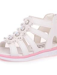 abordables -Fille Chaussures Similicuir Eté Confort / Chaussures de Demoiselle d'Honneur Fille Sandales pour Blanc / Fuchsia / Rose