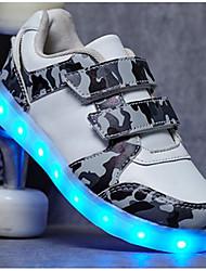 abordables -Garçon Chaussures Polyuréthane Automne Confort / Chaussures Lumineuses Basket pour Blanc / Noir / Vert