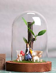 baratos -1pç vidro / Resina Moderno / Contemporâneo para Decoração do lar, Home Decorações Presentes