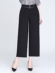 cheap -Women's Basic / Street chic Wide Leg Pants - Solid Colored