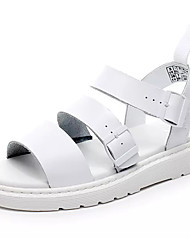 billige -Herre PU Sommer Komfort Sandaler Hvid / Sort