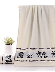 preiswerte -Frischer Stil Badehandtuch Handtuch, Jacquard Gehobene Qualität Polyester / Baumwolle gewebtes Jacquard 1pcs